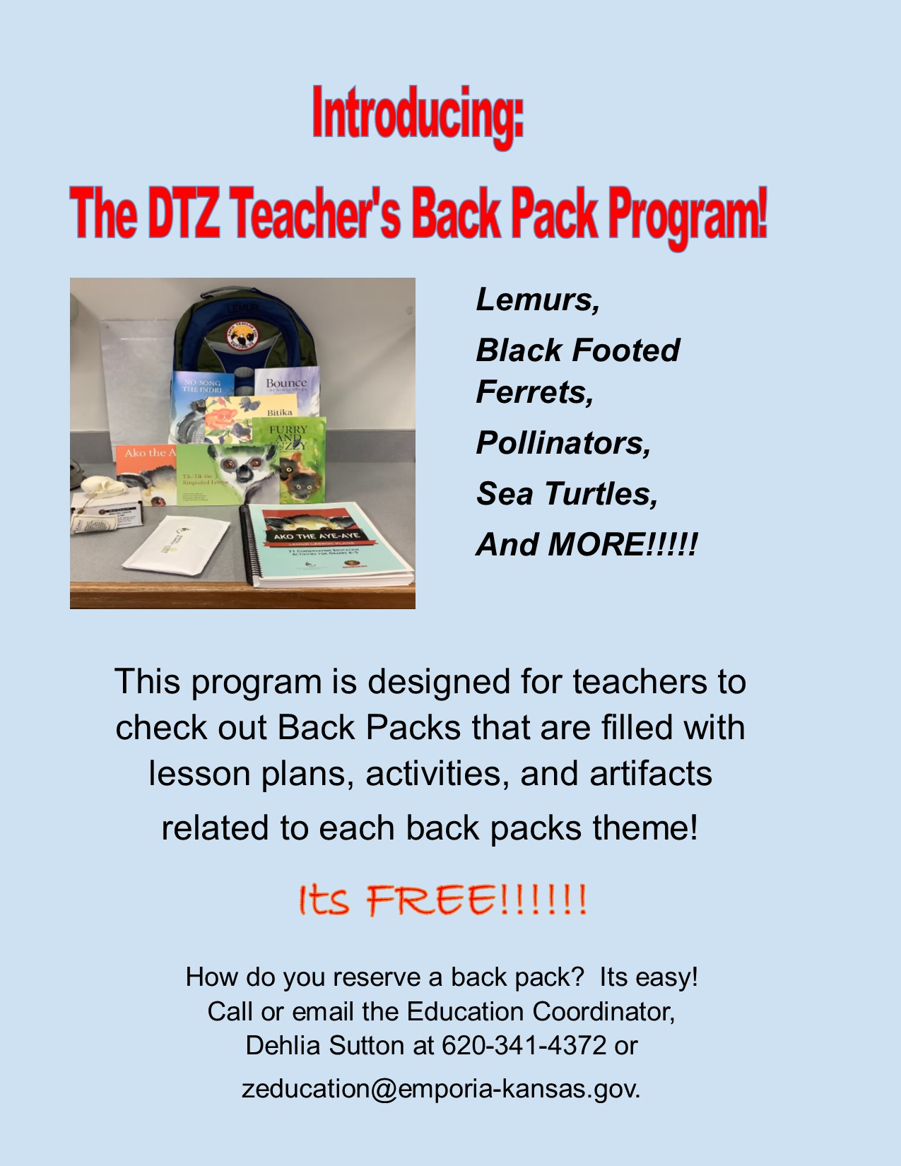 Flyer for Back Pack